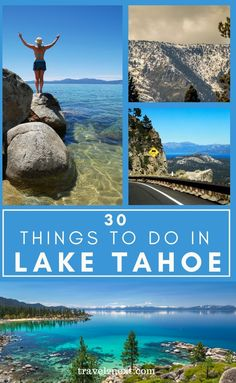 30 Things To Do In Lake Tahoe. The slopes have breathtaking views of Lake Tahoe's stunning alpine lake framed by snow-capped peaks. To top it off, 300 days of sunshine and an average annual snowfall of 10.67 metres just about guarantee a fantastic time on the snow. #northamerica #california #laketahoe #usa #travel #tahoe California Travel Guide, California Vacation, Stuff To Do, Things To Do, Alpine Lake, United States Travel, Greatest Adventure, Lake Tahoe, Usa Travel