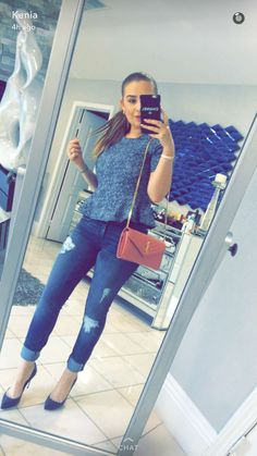 Ootd IG: keniaontiverosoficial All Jeans, Casual Jeans, Skinny Jeans, Jean Outfits, Casual Outfits, Looks Jeans, Famous Stars, Larry, Ideas Para