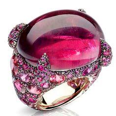 Tourmaline ring....love cabochons...