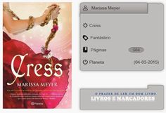 Livros e marcadores2: Cress de Marissa Meyer