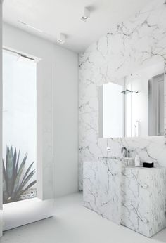 Imagine This Barcelona Space Marbel Bathroom, Modern Marble Bathroom, White  Bathroom, Simple Bathroom