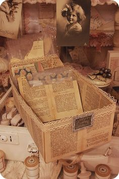 Inspiration: Ideas for recycling vintage book pages « Karboojeh Handmade