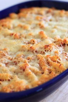 My grandma's meatless baked ziti will quickly become a family favorite. Requires only 5 ingredients! Easy comfort food that you can make ahead or freeze for later.