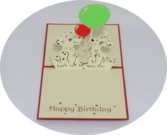 Two Puppies Happy Birthday - 3D Pop Up Cards - Greeting Cards - Ovid Gifts