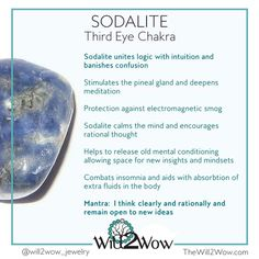 Crystal Healing with Sodalite  Http://www.thewill2wow.com