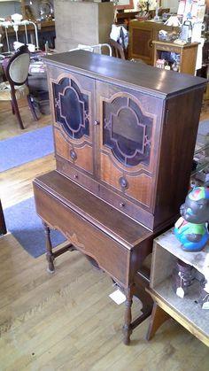 Beautiful Drop Leaf Union Furniture Co, Rockford Secretary/Desk. At JAM On  Brown