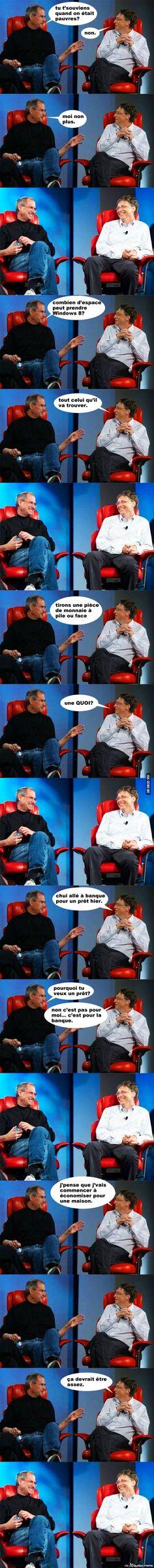 Les Meilleures Jokes de Steve Jobs et Bill Gates