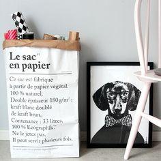 'Le sac en papier': feito com papel reciclado e com funo multiuso (Foto: Divulgao/Le Sac en Papier)