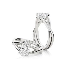 Exceptional brilliance illuminates with the Aura engagement ring. The Aura engagement ring features a stunning 2ct oval diamond entwined with a platinum band. See more at http://www.armansfinejewellery.com/engagement-rings