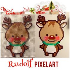 Christmas Rudolph perler beads by creativesanna