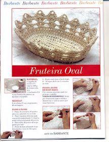 Crochê Gráfico: Fruteira em crochê endurecido