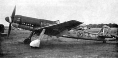 Focke-Wulf Ta 152 - judging by the markings it appears to be captured after the war.