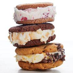 Cookies and Cream: The Infinite Variety of Ice Cream Sandwiches - Magazine - FineCooking Crêpe Recipe, Butter Recipe, Espresso Ice Cream, Chocolate Espresso, Homemade Pastrami, Rhubarb Muffins, Pumpkin Ice Cream, Coconut Ice Cream