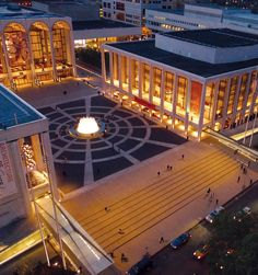 Lincoln Center, NYC.Located on the upper west side at 10 Lincoln Plaza. Home of the Metropolitan Opera, New York City Ballet and the New York Philharmonic Orchestra.