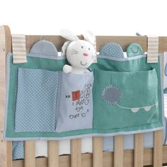 Alphabed Alligator Cot Tidy