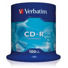 Cd Verbatim -R Tarrina 100 Unidades 700 Mb. 52X. Comprar a precios en oferta