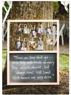 A little way to involve those close to you in the wedding that are up in heaven
