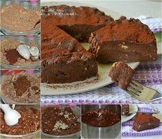 Torta al cioccolato e nocciole ricetta senza cottura