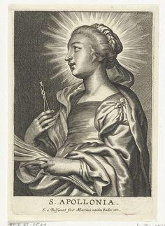 Schelte Adamsz. Bolswert   Heilige Apollonia met uitgetrokken tand, Schelte Adamsz. Bolswert, Peter Paul Rubens, Martinus van den Enden, 1596 - 1659  