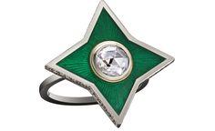 Solange Azagury-Partridge Princess ring. Enamel, white gold and diamond.