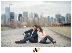 attractive spring e-session in liberty state park!   more from this e-session with marta and nash: http://www.andresvalenzuelablog.com/2013/04/20/marta-nash-engaged-liberty-state-park-new-jersey/