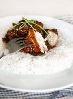 Red wine chicken recipe.  Use Quinoa instead of white rice.