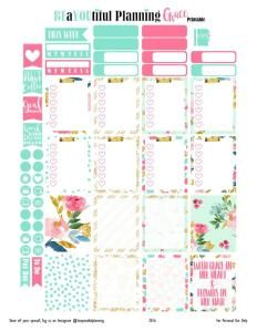 Hey Planner Girls!! I have created this beautiful printable this week that I have called Grace. I just LOVE this