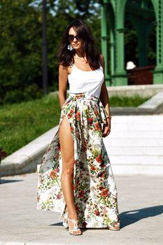 Длинная юбка летняя с запахом