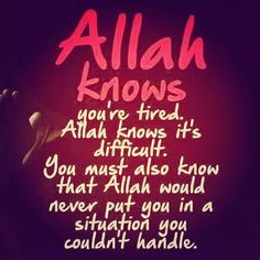 Allah Know ....