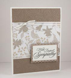 Sympathy Card  Handmade Card  Condolence Card  by CardsbyGayelynn, $5.25