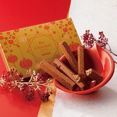 """A delectable confection such as our ROYCE' Bar Chocolate """"Nut"""" (New Year Design) can be a treat worthy of luck for Lunar New Year. Royce Chocolate, Chocolate Wafers, Chocolate Coating, Chocolate Covered Potato Chips, Chocolate Covered Almonds, Lunar New Year 2020, Happy Lunar New Year, Japanese Chocolate"""