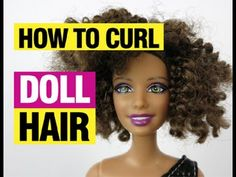 How to Curl Doll Hair 2 - YouTube Barbie Hairstyle, Doll Hairstyles, Curled Hairstyles, Barbie Stuff, Barbie Dolls, Diy Barbie Furniture, Making Dolls, Fairy Clothes, Doll Wigs