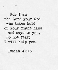 Tonight, I'm thankful that God walks with us through every storm. He takes hold of our right hand and never lets go.