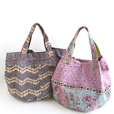 Cute boxy cloth totes - these are for sale but have great pictures and some sizes.