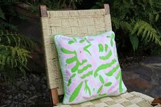 """Lime and Pale Pink hand embroidered Otomi Sham Scarlett """"O"""" collection – Casa Otomi Mexico, Tenango, wedding, textile, mexican suzani, embroidery, hand embroidered, otomi, fiber art, mexican, handmade,  casa, decor, interior, frida, kahlo, folk,  folk art, house, home, puebla, las flores, cushion, serape, preppy, gingham, polka dots, pink, lime, green, lily pulitizer, pouf, elle decor, boho, style, bestey johnson, lily pultizer, interior, stripes, southern living, southern style,"""