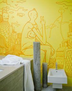 illustrative wall art mural