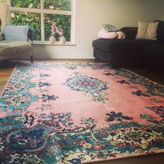 Just got this picture from a happy customer! vintage look rug.
