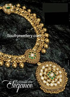 Emerald Necklace latest jewelry designs - Page 14 of 58 - Indian Jewellery Designs Gold Jewelry For Sale, Jade Jewelry, Emerald Jewelry, Tiffany Jewelry, Jewelry Rings, Indian Wedding Jewelry, Indian Jewelry, Bridal Jewelry, Gold Gold