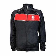 Liverpool FC Official Football  Mens Retro Jacket Black Full Zip RRP £49.99
