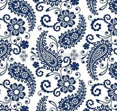 Vector: traditional paisley floral pattern , textile , Rajasthan, India