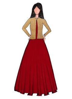 Buy A High Risk Red Taffeta Gown With Embroidered Jacket online, SKU Code: IWBS1711795. This Red color Party dresses and gown for Women comes with Sequins Taffeta . Shop Now!