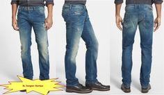 DIESEL Men 'Safado' Regular Slim Straight Leg Jeans 0824P NEW NWT $258 #DIESEL #SlimStraight
