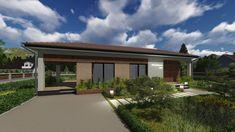 Proiect Casa Economica BC-107-120m2 Garage Doors, Web Design, Dining, Live, Outdoor Decor, Modern, Home Decor, Design Web, Food