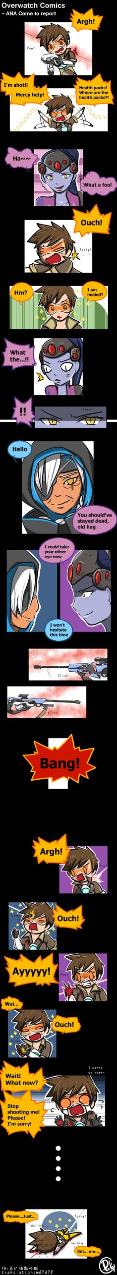 Overwatch Comics -ANA Come to report #ana #comics #overwatch #tracer #widowmaker #overwatchfanart #widowtracer #overwatchcomics
