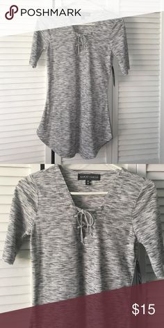 Cute top! Brand new cute top ! With lace up front tie ! Size M Tops