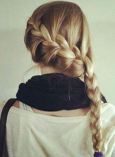 An adorable french side braid to go any place and look casual.