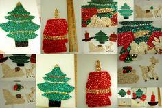 Vintage Sequin & Beaded Felt Christmas Items by Beadgarden55, $14.00