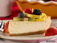 Little Italy Cheesecake - The combo of ricotta cheese and cream cheese makes this one a winner!