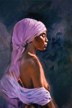 Retrato de uma mulher. Óleo sobre linho. Luiz Vilela (Boa Esperança, Minas Gerais, Brasil, 1965 - ).