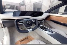concept debuts Nissan's new design language The minimalist design of the Vmotion interior showcases a large dash screen that runs nearly.The minimalist design of the Vmotion interior showcases a large dash screen that runs nearly. Car Interior Sketch, Car Interior Design, Car Design Sketch, Interior Concept, Automotive Design, Tesla Interior, Nissan, Car Ui, Automobile